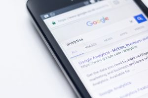 Google Search Engine on a smartphone