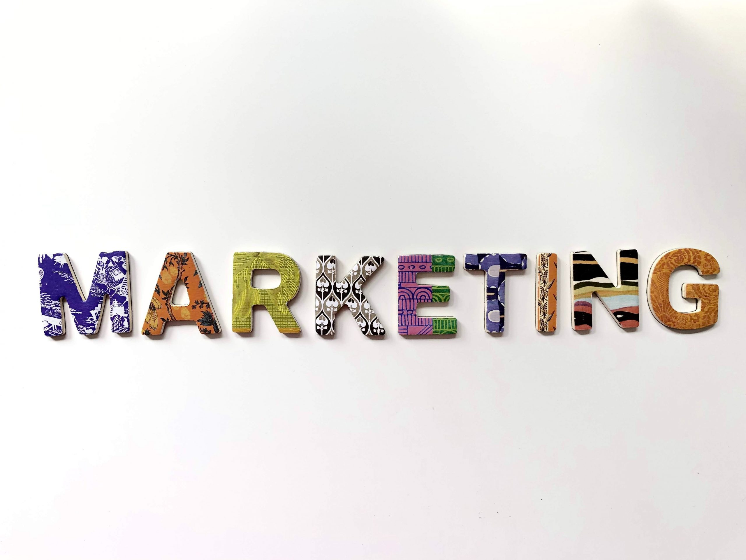 marketing letters on a sign