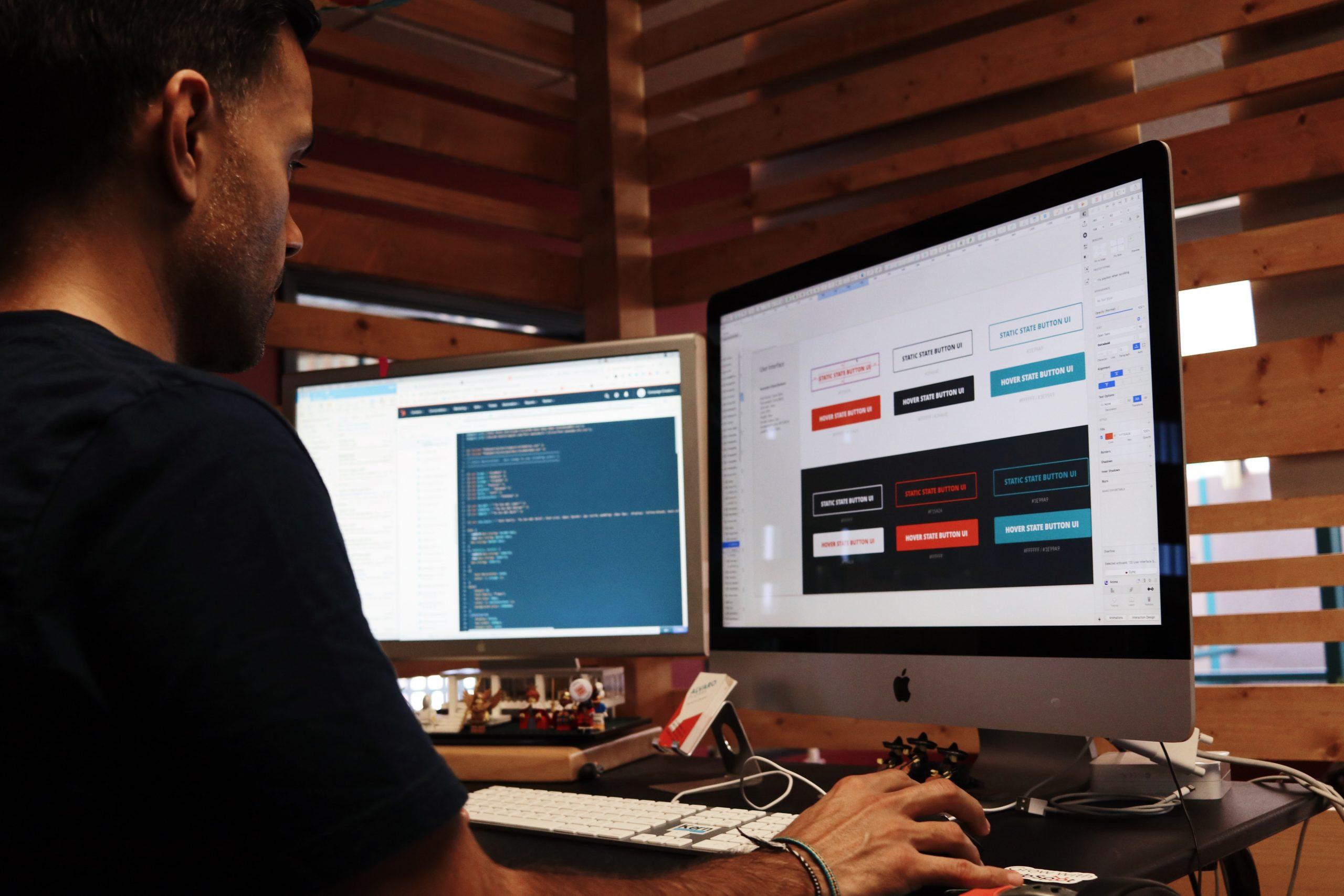 website designer working